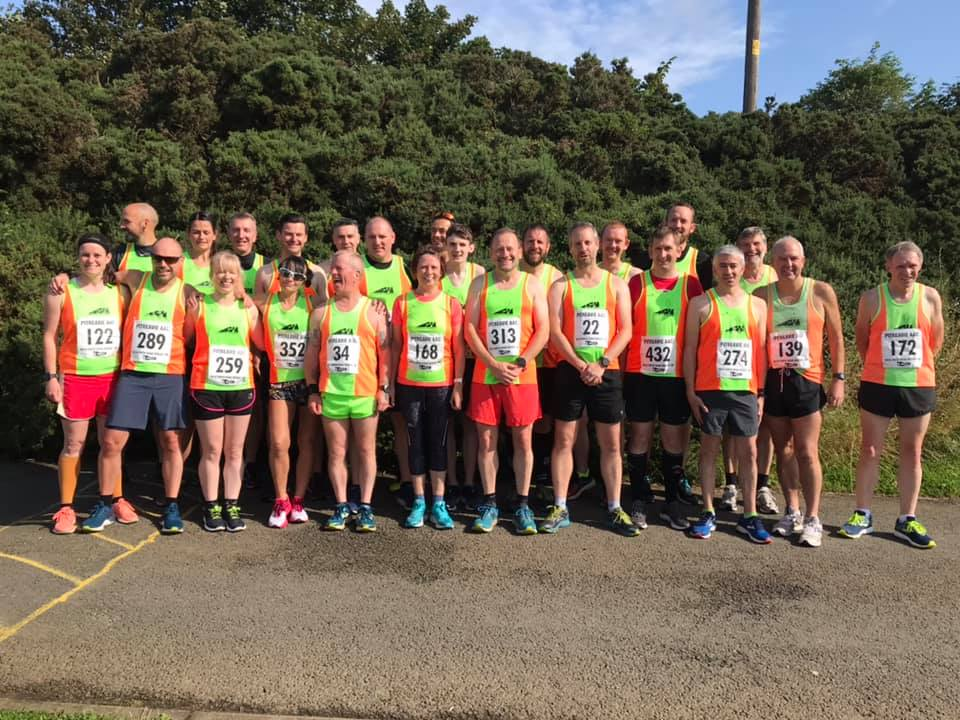 """Harriers """"Gone with The Wind"""" at Forth Road Bridge 10k"""